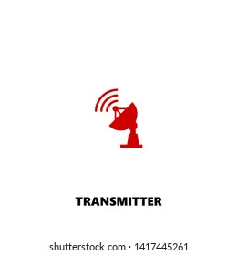 transmitter icon. transmitter vector design. sign design. red color