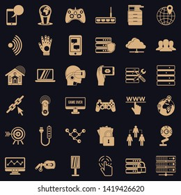 Transmitter icons set. Simple set of 36 transmitter vector icons for web for any design