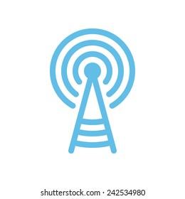 Transmitter tower icon (flat design)