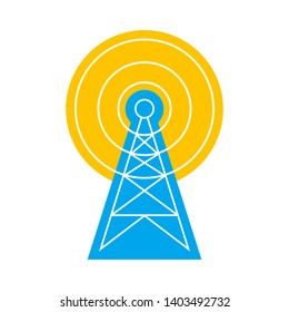 Transmitter vector icon on white background