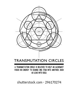 Transmutation circles - alchemical symbol - sacred geometry - can be used in your design - the art of tattooing - the design of logos - corporate identity - as a poster or a badge