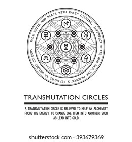 Transmutation circles - alchemical symbol - sacred geometry - can be used in your design - the art of tattooing - the design of logos - corporate identity - as a poster or a badge. White background
