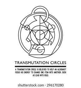 Transmutation circles - clock - alchemical symbol - sacred geometry - can be used in your design - the art of tattooing - the design of logos - corporate identity - as a poster or a badge
