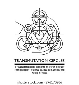Transmutation circles - motion - alchemical symbol - sacred geometry - can be used in your design - the art of tattooing - the design of logos - corporate identity - as a poster or a badge