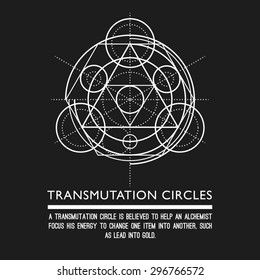 Transmutation circles - sacred geometry - stock vector
