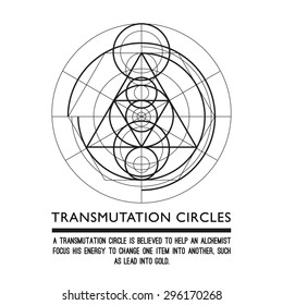 Transmutation circles - space gate - alchemical symbol - sacred geometry - can be used in your design - the art of tattooing - the design of logos - corporate identity - as a poster or a badge