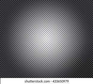 Transparency grid texture pattern with black and white radial gradient. Checkered background. Vector illustration