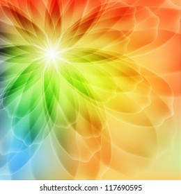 Transparent background with a flower