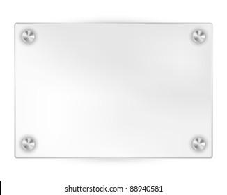 Transparent Blank Frame on White Background