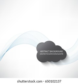 Transparent blue abstract wave smoke.Gray cloud