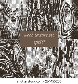transparent brown wooden background set