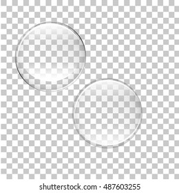 transparent bubbles vector isolated on background EPS 10.