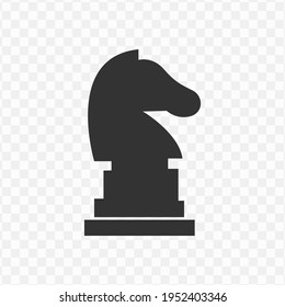 Transparent chess icon png, vector illustration of an chess icon in dark color and transparent background(png)