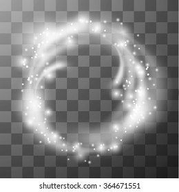 Transparent circle frame. Vector eps10.
