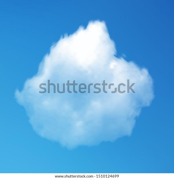 Transparent Cloud On Blue Azure Backdrop Stock Image Download Now