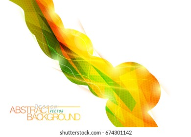 Transparent colors low poly vector abstract wallpaper on a white background