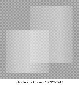 transparent empty paper or plastic