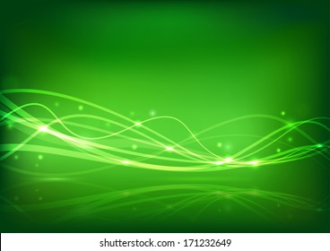 Transparent energy wave - abstract banner. Vector illustration