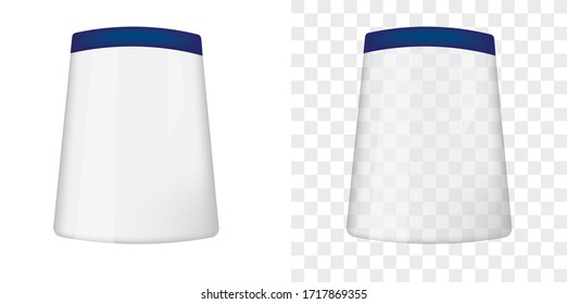 Transparent face cover shield. vector illustration