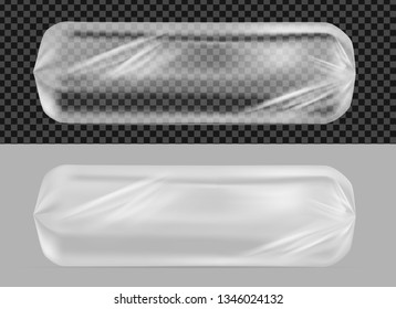 Transparent foil or paper packaging. Sachet for  cookies.