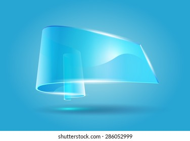 transparent glass tape with shadow
