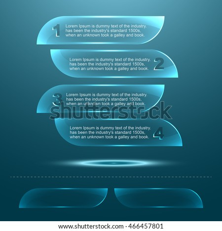 Transparent Glass Texture Plate Template Stock Vector 466457801 ...