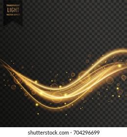 transparent golden light effect vector background