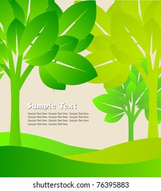 transparent green tree template