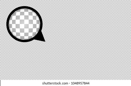 Transparent grid imitation vector abstract background with zoom lens effect