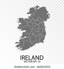 Detailed Map Of Ireland Vector.Detailed Vector Map Ireland Capital City Stock Vector Royalty Free