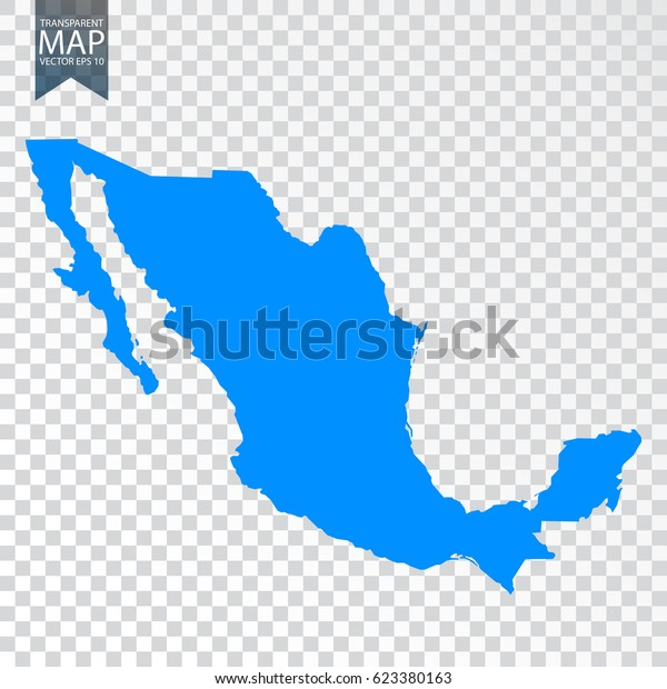 Transparent High Detailed Map Mexico Vector Stock ...