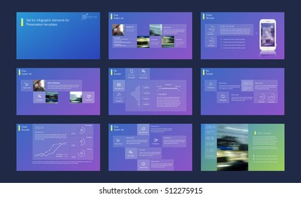 Transparent infographic element on gradient background for presentation templates. Leaflet, Annual report, book cover design. Brochure, Flyer layout template design. Vector Illustration.