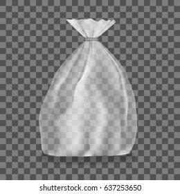 Transparent Light Polyethylene Package Mockup. EPS10 Vector