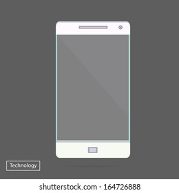 Transparent Mobile Smart Phone new Digital Technology Futuristic concept creative design in vector