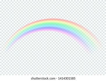 transparent rainbow. isolated on transparent background. Vector illustration. Eps 10.