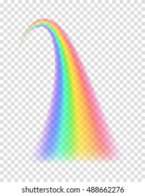 Transparent rainbow. Vector illustration. Realistic raibow on transparent background.