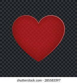Transparent red heart