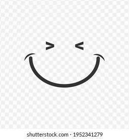 Transparent smile icon png, vector illustration of an smile icon in dark color and transparent background(png)
