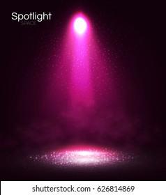 Transparent Spotlight. Scene Illumination. Light Effect. Vector illustration
