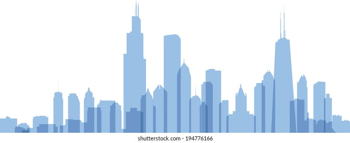 chicago skyline silhouette images stock photos vectors shutterstock