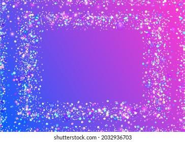 Transparent Tinsel. Glitter Foil. Glitch Confetti. Laser Design. Purple Shiny Effect. Modern Art. Birthday Texture. Disco Realistic Gradient. Pink Transparent Tinsel