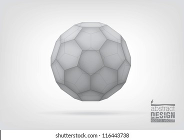 Transparent  truncated icosahedron for your graphic design. You can change colors
