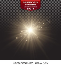 Transparent Vector Effects Series. Easy replacement of the background EPS10