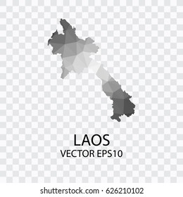 Transparent - Vector map of Laos, Vector illustration eps 10.