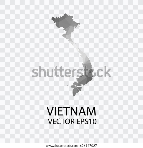 Transparent Vector Map Vietnam Illustration Eps Stock Vector Royalty Free 626147027