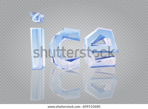 transparent word ice stock vector royalty free 609510680 shutterstock