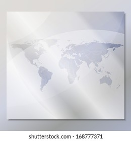 transparent world map vector at an abstract gray background