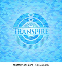Transpire light blue mosaic emblem
