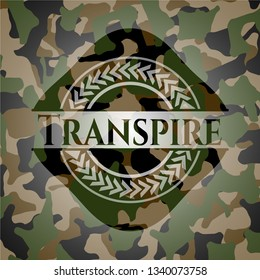 Transpire on camo pattern