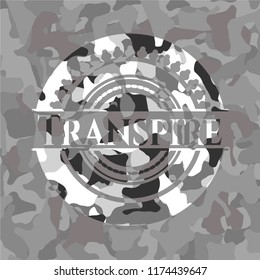 Transpire on grey camo pattern